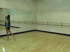 Dance training on leaps. Learn how to do a dance leap.