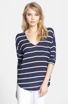 stripe jersey pocket tee / splendid