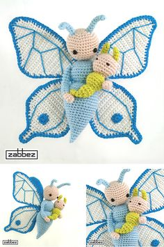 zabbez butterfly Bree and Caterpillar Calin
