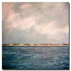 You can bring Lake Michigan home with this contemporary canvas art painted by Michelle Calkins. This painting has a lot of texture and is a realistic portrayal of the lake. It is a large square painting and is 35 inches high x 35 inches wide.
