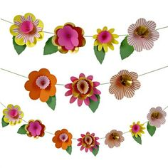Paper flower party garland