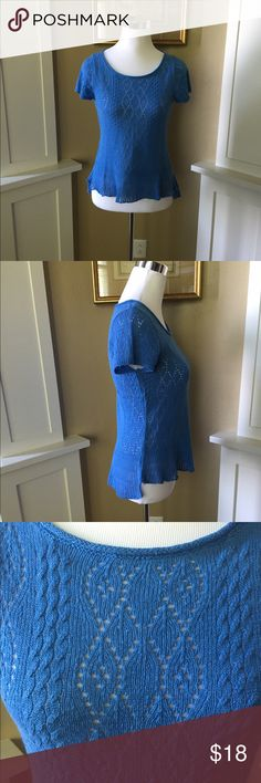 Anthropologie Blue Knit Top Pretty soft top by Anthropologie in excellent condition. No pet/non-smoking home. Tops Blouses