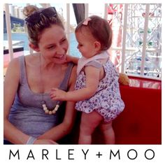A hip mumma, a happy customer !! We have another gorgeous mumma wearing Marley and Moo's Gypsy Geo Hipster nursing necklace...and what a cute munchkin too!!