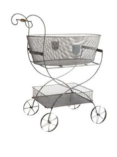 Napa Home & Garden Metal Decorative Garden Cart (Grey)