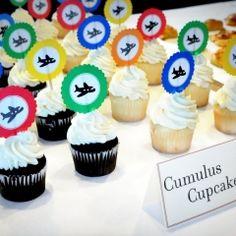 Airplane cupcake topper printables FREE