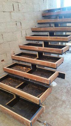 Escada estrutura de concreto