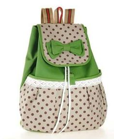 HOT 2014 Printing Backpack Women Bow Fashion Mochilas School Bags for Teenage Girls Canvas Sexy Cute String Rucksacks Knapsacks-inBackpacks . Cute Backpacks, School Backpacks, Canvas Backpack, Backpack Bags, Small Backpack, Travel Backpack, College Bags For Girls, Shabby Chic Stil, Cute Canvas