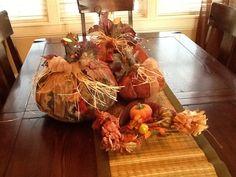 Rustic accents fall cloth pumpkin decorations by Treasurepeddler, $39.99