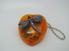 Dragonfly Heart Music Box Key Chain by bluesparrowtrinkets on Etsy