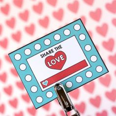 """Keep track of your kids good deeds with this """"Share the Love"""" punch card!"""