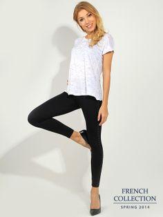 T-shirt biały Bluzki \ t-shirty French Collection \ Bluzki \ t-shirty Butik 133395