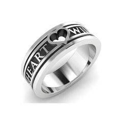 My Heart Will Go On • Hope Ring • Sterling Silver 925 925 Silver, Sterling Silver Rings, Chaos Magic, My Heart, Plating, Rings For Men, Wedding Rings, Engagement Rings, Metal