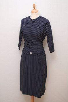 Nålestribet kjole 1950