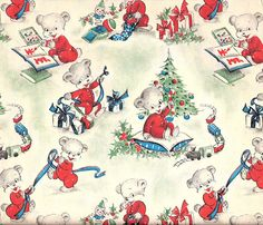 Vintage gift wrap