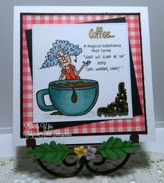 Coffee is a Magical Substance by kraftyaunt - Cards and Paper Crafts at Splitcoaststampers