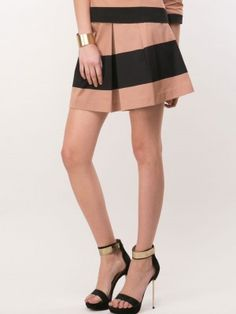 OASIS Block Stripe Skater Skirt from koovs.com