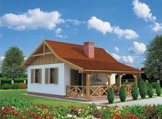 DOM.PL™ - Projekt domu PT TULUZA dom letniskowy CE - DOM PT9-82 - gotowy koszt budowy Home Fashion, Cabin, House Styles, Houses, Home Decor, Homes, Homemade Home Decor, Cabins, Cottage