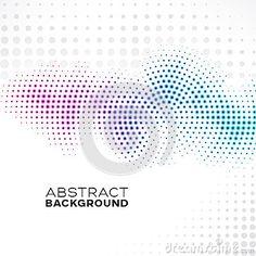 Semitono astratto Dots Background di pendenza Abstract Backgrounds