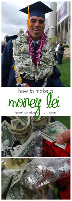 What graduate wouldn't love a money lei!  Make one easily with this tutorial