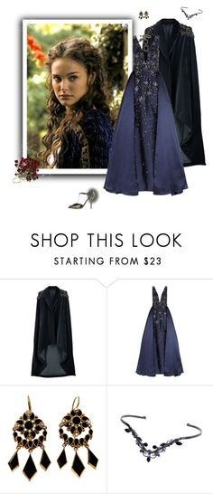 """Padmé Amidala"" by greerflower ❤ liked on Polyvore featuring Veil London, Jovani, TIARA and Dolce&Gabbana"