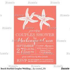 Beach Starfish Couples Wedding Bridal Shower