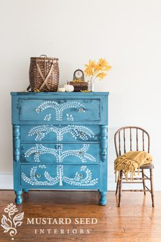 hand painted empire dresser makeover - Miss Mustard Seed