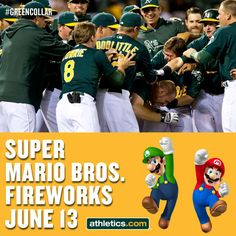 Super Mario Bros. Fireworks Night is June 13. Think MLB will let us put Piranha Plants in the outfield?