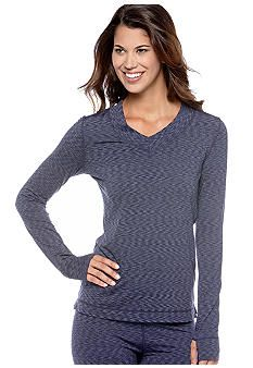 Cuddl Duds Flex Fit Long Sleeve V-Neck Top with Thumb Hole - Online Only #belk