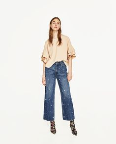 FRILLY SLEEVE TOP-View All-TOPS-WOMAN | ZARA United States