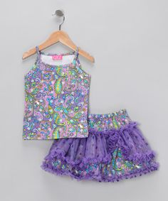Loving this Purple Paisley Tank & Skirt - Infant & Toddler on #zulily! #zulilyfinds
