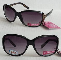 2 Pair Foster Grant Way Style Sunglasses Wren Black Turtle Shell Scratch resist