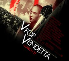 V for Vendetta. DC Comic with British invasion capturing 1980s cold war and public stressed over government.