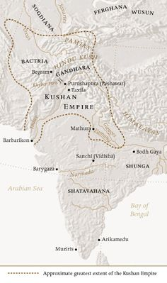 MAP ca. 150 CE. Kushan Empire. Kujula Kadphises united the disparate tribes in…