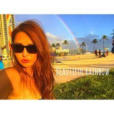 【mami_623】さんのInstagramをピンしています。 《. .  Hawaiiに来てから何回も虹を見れてる〜🌈✨ 素敵なことがたくさんありますように🙏💓 .  #hawaii#trip#camera#gopro#hero4black #couple#photo#ootd#instalike#l4l#canon #camera#pic#kakaako#followme#honolulu #プール#夏#ハワイ#留学#海#アラモアナ#ビーチ #ゴープロ#ゴープロのある生活#カメラ#ホノルル #カメラ女子#一眼レフ#カメラ好きな人と繋がりたい》