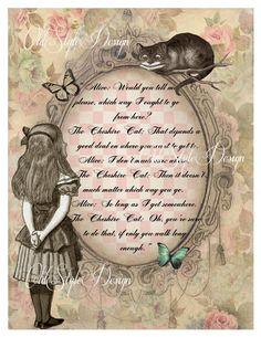 ALICE in Wonderland Decor. Shabby Chic Decor. by OldStyleDesign