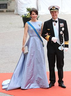Crown Princess Mary of Denmark with her husband Prince Frederick