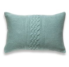 Decorative Cable Knit Pillow Cover In Duck Egg by DelindaBoutique, $45.00