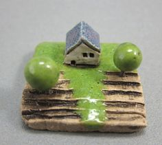 MyLand   Moss Inn  Collectible 3x3 cm or 12x12 in puzzle by elukka, €12.50