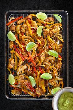 Whole30 Day 2: Sheet Pan Chicken Fajitas + Avocado Crema by Michelle Tam / Nom Nom Paleo http://nomnompaleo.com