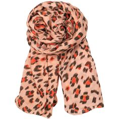 Becksondergaard Blurred Leo Scarf - Dusty Peach ($46) ❤ liked on Polyvore featuring accessories, scarves, dusty peach, becksöndergaard, animal print shawl, cotton scarves, animal print scarves and cotton shawl