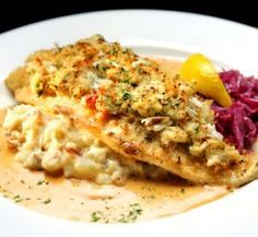 Mahi Mahi w/Crab Stuffing & Cream Sauce A beautiful way to serve mahi mahi or your favorite island fish.  This even works with salmon if you...