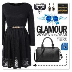 """""""Elegant in black!"""" by soofficial87 ❤ liked on Polyvore featuring Goody and Fujifilm"""