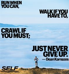Never give up. #SELFmagazine
