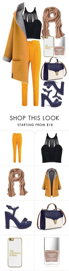 """""""Untitled #24"""" by bebebelabee on Polyvore featuring Boohoo, Banana Republic, WithChic, Paul Andrew, Aspinal of London, BaubleBar and Butter London"""