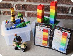 Free Lego Patterns (plus a fun idea for a travel lego box)