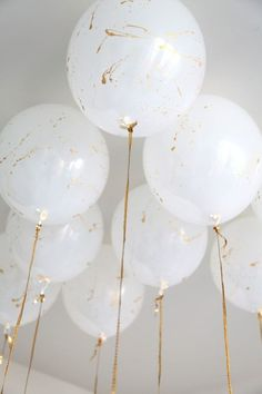 DIY paint splatter balloons: http://www.stylemepretty.com/living/2016/03/11/20-simple-ways-to-take-your-balloons-to-the-next-level/