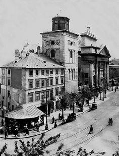 Warszawa Przedwojenna.Kościół Świętej Anny. Design Movements, Capital City, Vintage Travel, Past, Art Deco, Street View, Town House, Landscape, Architecture