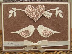 Stampin' Up! UK Demonstrator - Teri Pocock: Bird Punch - Wedding Card