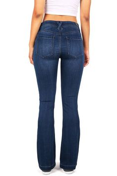 Mid-rise jeans with a slim fit throughout with a boot cut leg that creates 03e22d49f4