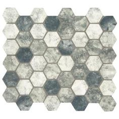 MSI Urban Tapestry Hexagon 12 in. x 12 in. x 6 mm Glass Mesh-Mounted Mosaic Tile (15 sq. ft. / case)-SMOT-GLS-UT6MM - The Home Depot